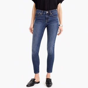 J. Crew toothpick ankle skinny jeans 27